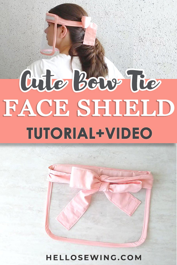 Easy Reusable DIY Face Shield With Cute Bow Headband