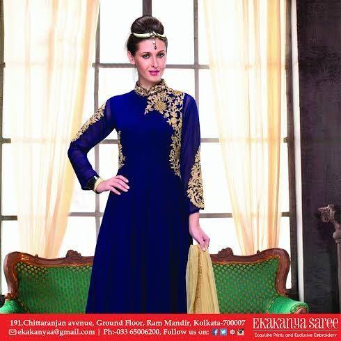 Royality of elegance is just found in Ekakanya Saree. #EthnicWear #Saree #DesignerLook #Elegance #EkakanyaSarees
