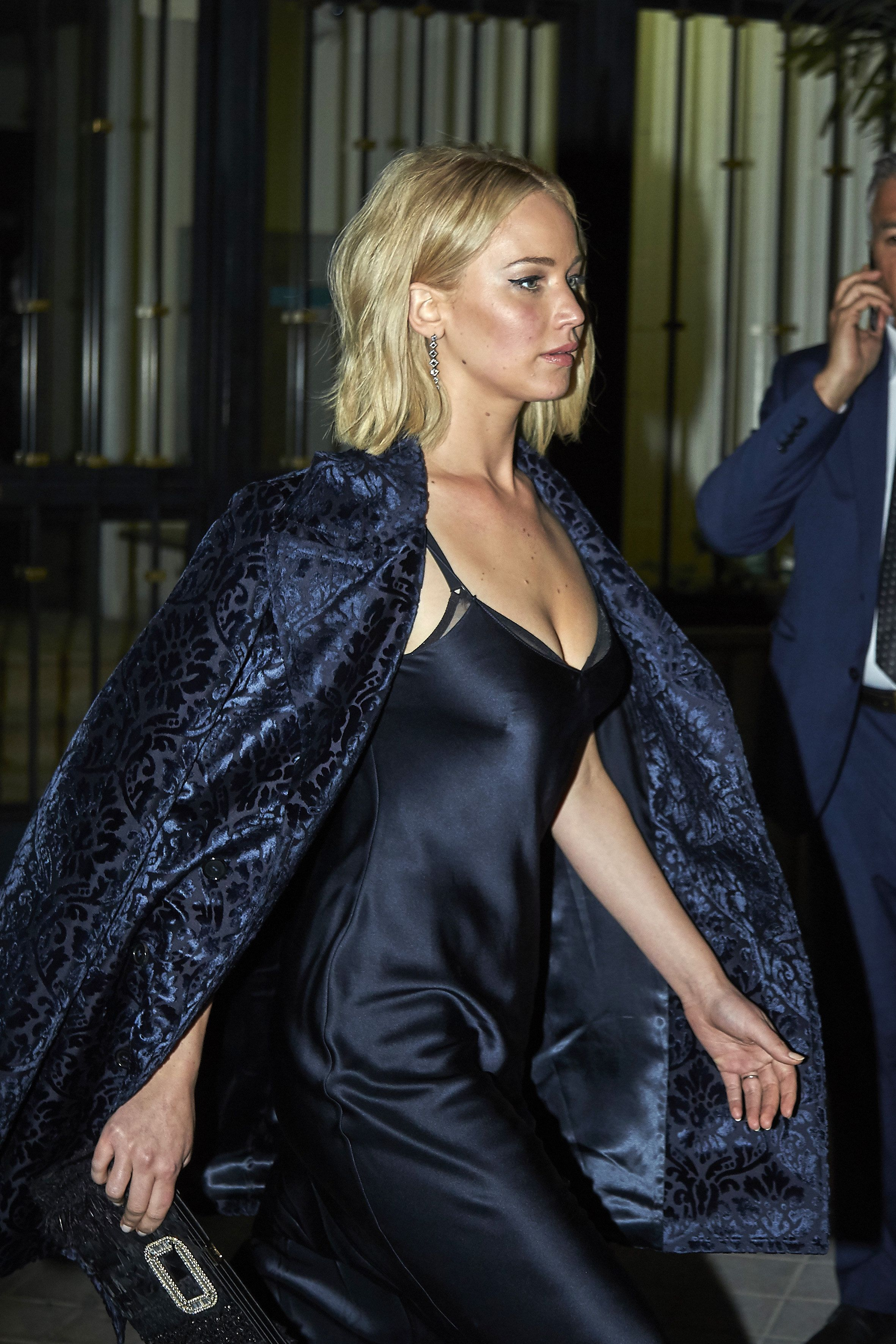 Jennifer lawrence leaving the asador donostiarra in madrid