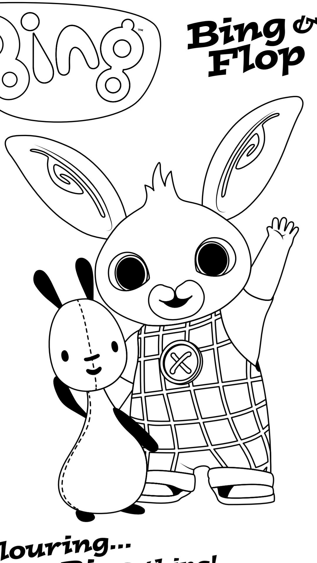 Pin By Ruth Bross On Digi Bing Bunny Coloring Pages Bing