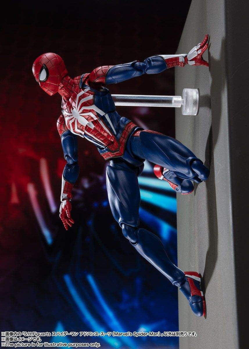 S H  Figuarts Spider-Man PS4 Edition Figure Official Images