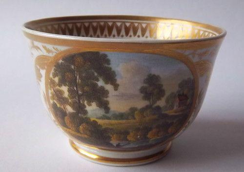 Antique Early 19th Century Derby Porcelain Teacup 'Near Belper Derbyshire' C1810 | eBay