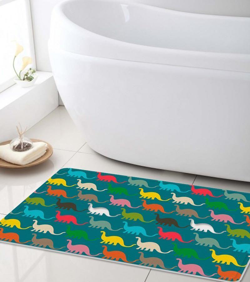 Dinosaurs Bath Mat Kids Bath Mat Kids Bath Mat Shower Mat Kids Bathroom