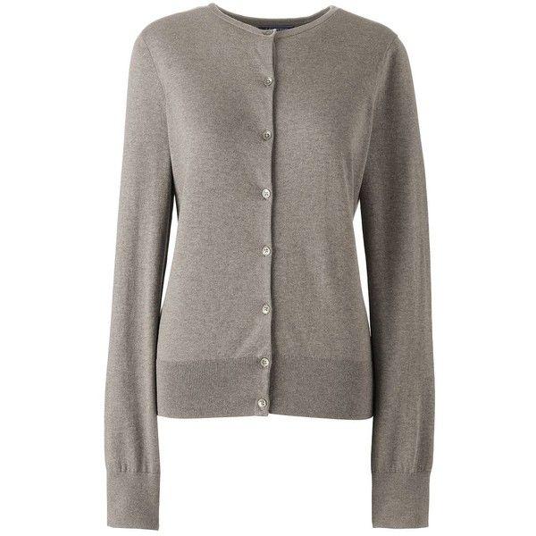 Lands' End Women's Petite Supima Cotton Cardigan Sweater ($49 ...