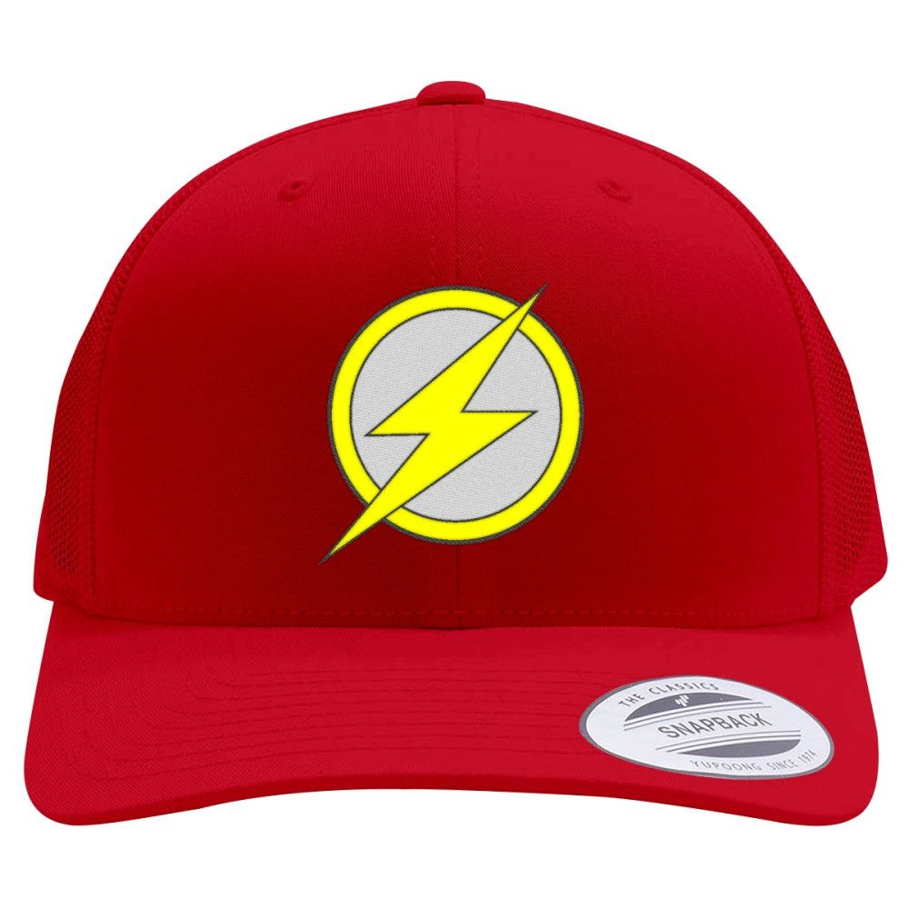 Flash Retro Embroidered Trucker Hat