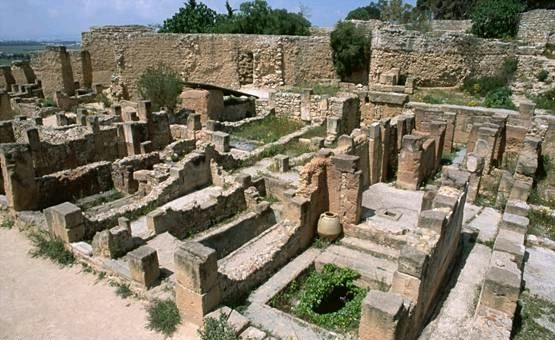 Ruins of ancient Carthage, capital of the Phoenician civilization ...