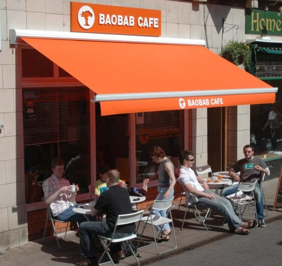 Foldiing Arm Awnings Cafe Tables Menu Innovation Cafe