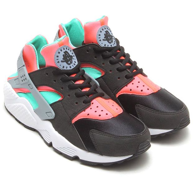 the latest 56308 c4ef0 Nike Womens Air Huarache - Black - Mint - Hot Lava - SneakerNews.com ...