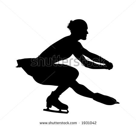 figure skating party supplies | Figure Skater Silhouette ...