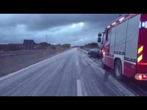 Ghiaccio sull Alghero Sassari, incidenti e disagi