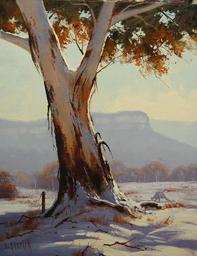 snow gum tree painting Google Search Tree painting
