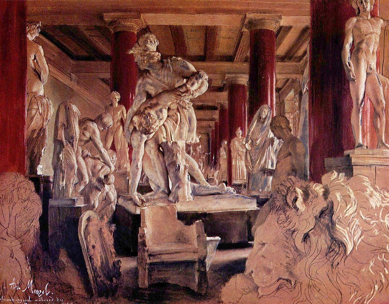 Adolf Friedrich Erdmann von Menzel  Pastel