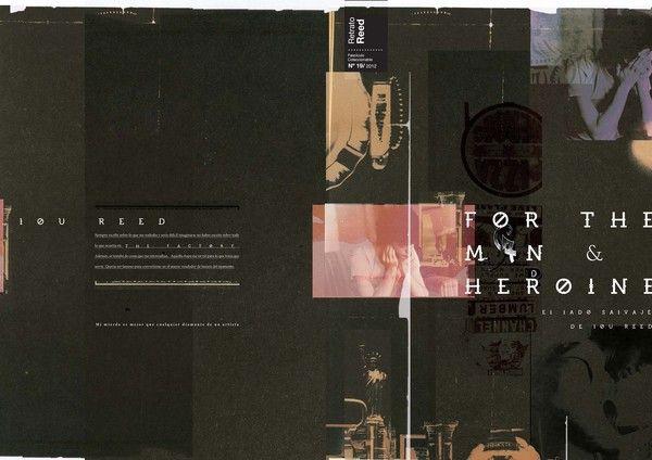 Editorial Lou Reed / FADU-U.B.A by Nadia Percan, via Behance