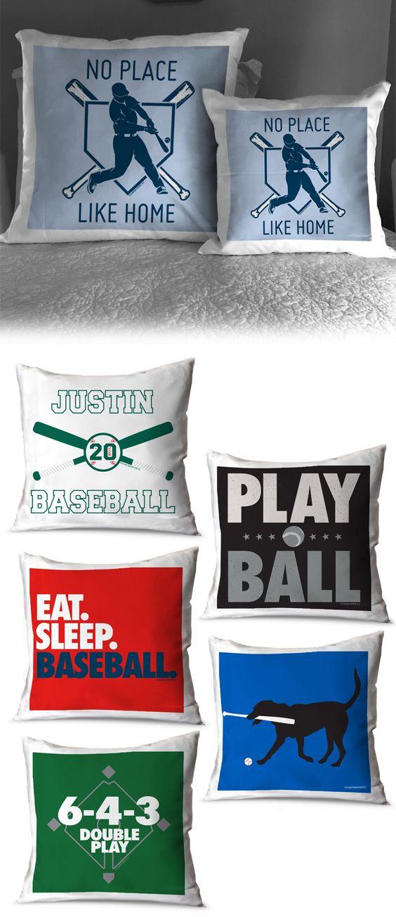 Play Baseball Throw Pillow