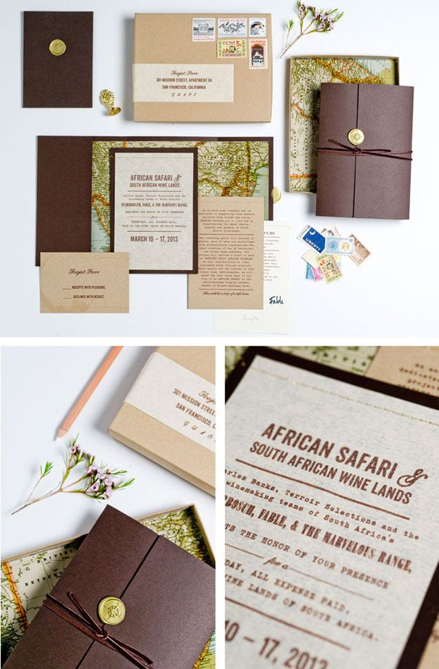 Exclusive African Safari Invitation Maybe a little high end for a - sample wedding guest list
