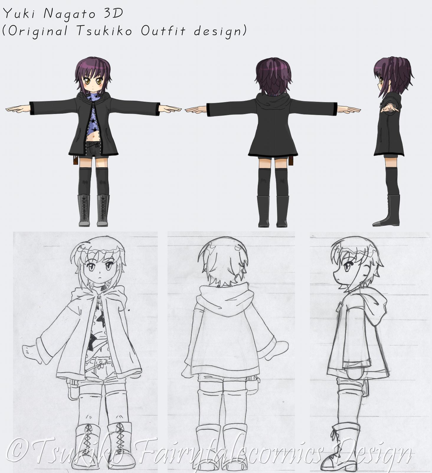 anime 3d model sheet Google Search Blueprints