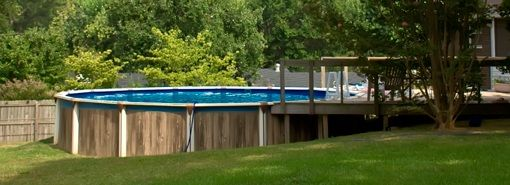 Above Ground Pool Landscape Designs Swimming Pools Above