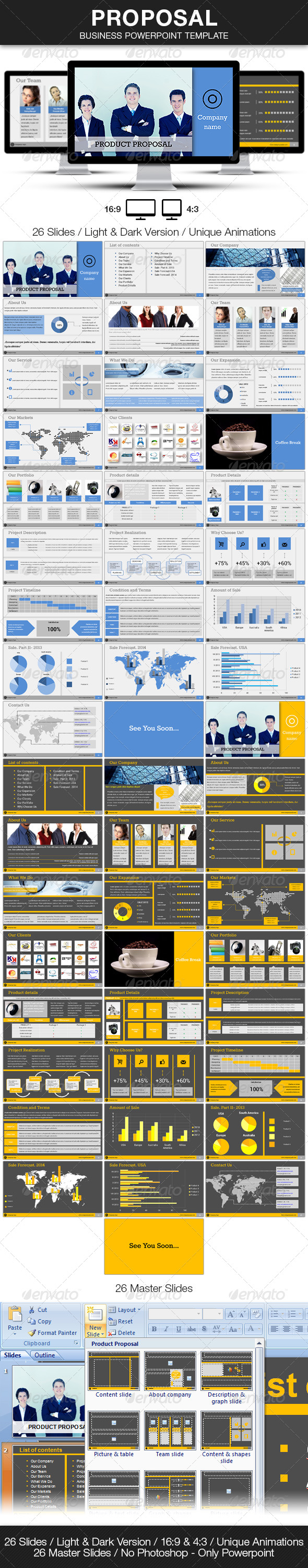 Proposal  Business Powerpoint Template  Business Powerpoint