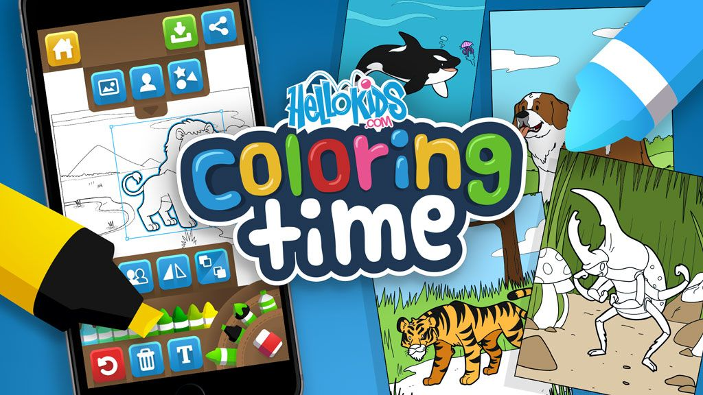 Hellokids: The Coloring Time App! Coloring Games For Kids, Free Online  Coloring, Online Games For Kids