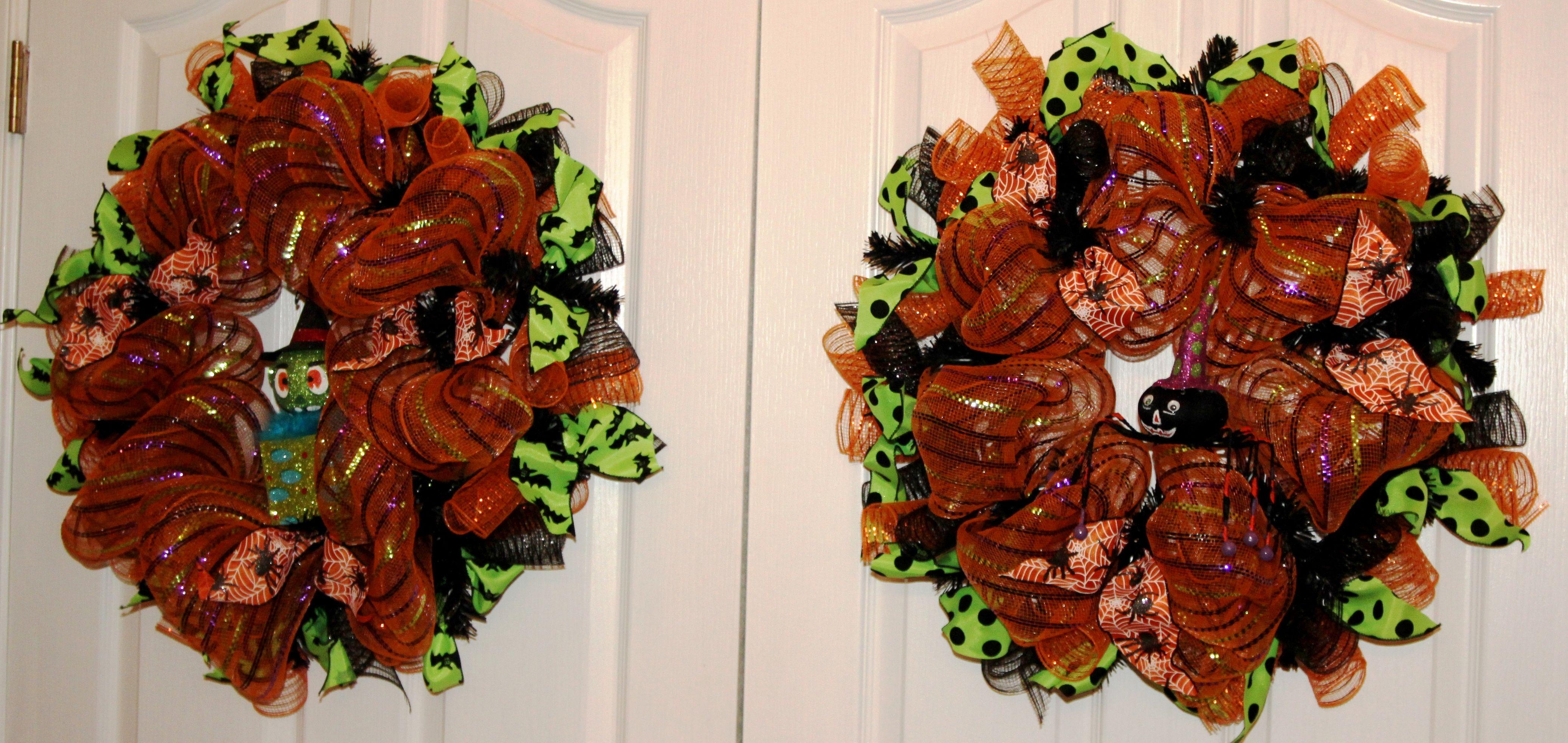Halloween Duo - Deco Mesh Wreath