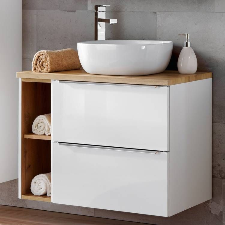 Badezimmer Waschtisch Set mit 60cm Keramik ...