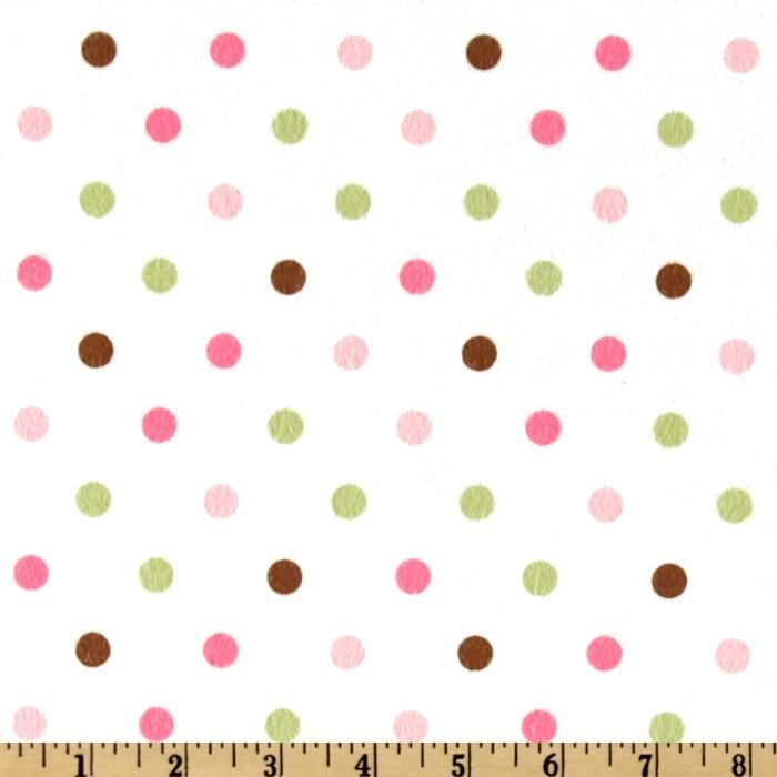 Cozy Cotton Flannel Polka Dot Pink from @fabricdotcom From Kaufman ... : polka dot quilt fabric - Adamdwight.com