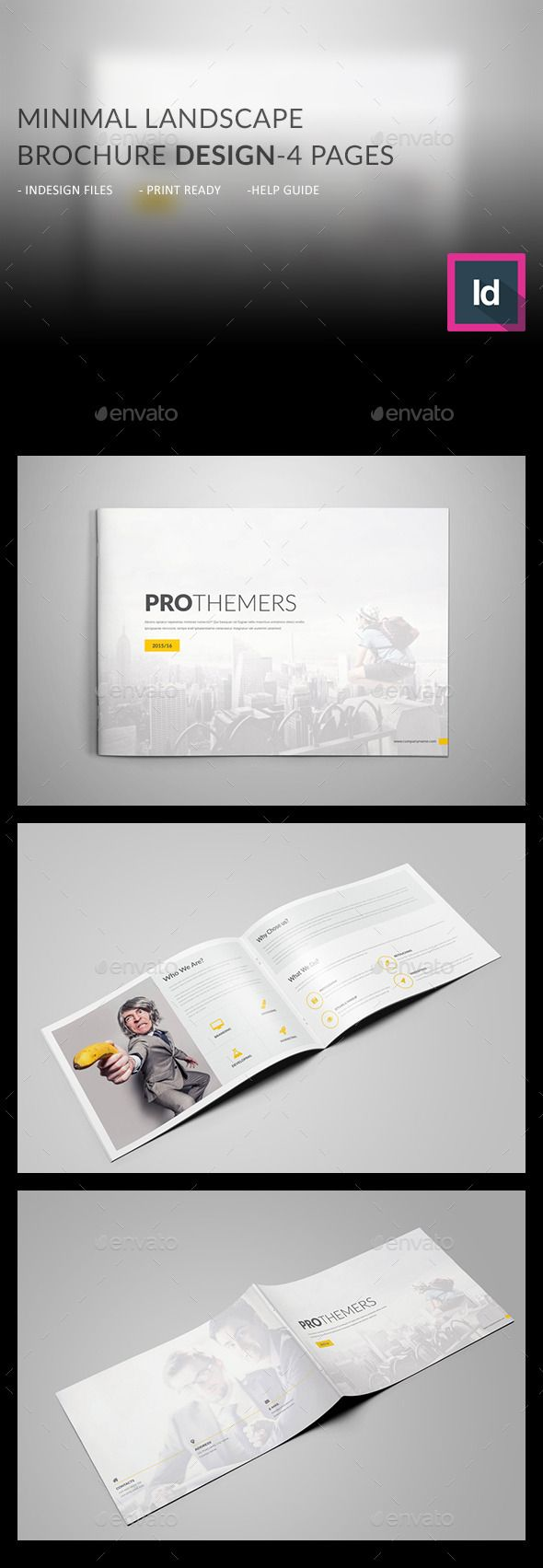 4 pages landscape brochure template design download http