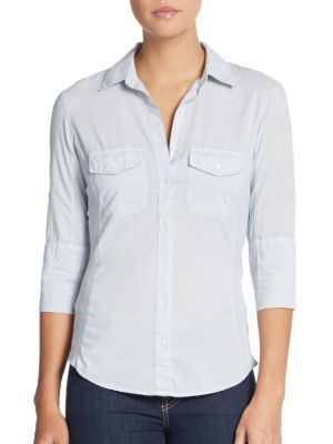 JAMES PERSE Ribbed Panel Button Front Top. #jamesperse #cloth #top