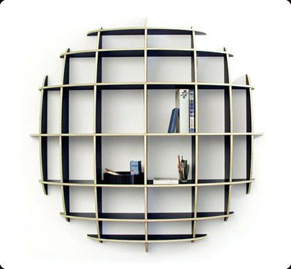 Wandregale Bücherregale ellipse bookshelf there has to be a way to diy this awesome