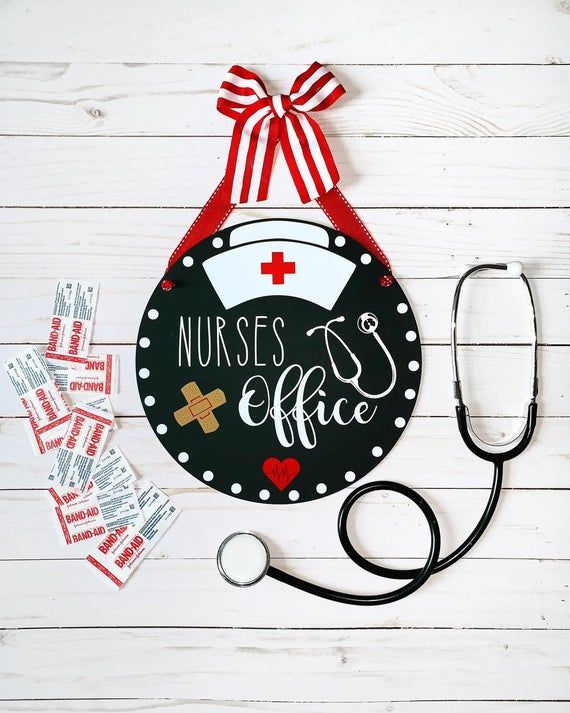 Nurse Door Hanger Sign, Nurses Office, School Nurse, RN, Personalized Nurse Gift, School Nurses Office Decor
