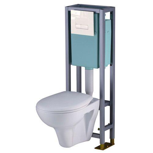 WC suspendu Actua - Leroy Merlin Idées Maison Intérieur Pinterest - meuble pour wc suspendu leroy merlin