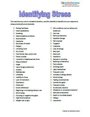 stress management pdf Ideas and inspiration for teaching GCSE - stress management chart