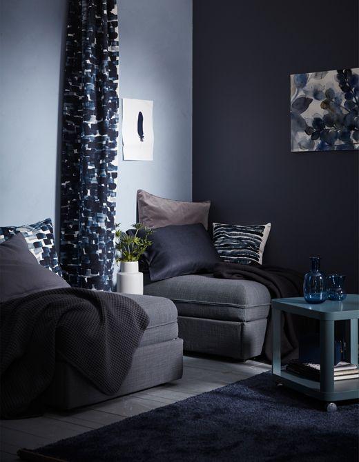 auch mit stoff lassen sich unterschiedliche raumbereiche. Black Bedroom Furniture Sets. Home Design Ideas