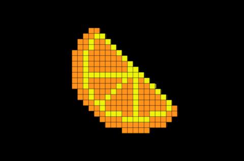 Orange Slice Pixel Art Wzory Haft Krzyżykowy Wzory I Haft