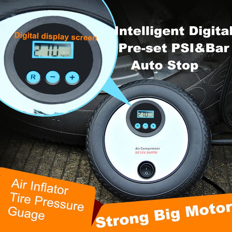 Portable Automatic 12V 250PSI Digital Air Compressor Car Van Tyre Inflator NEW
