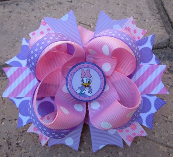 Daisy Duck Disney inspired Custom Stacked by AddisonsBowtique