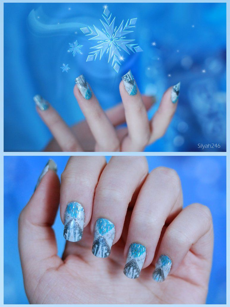 Queen elsa inspired nails frozen nail art pinterest queen queen elsa from frozen inspired nail art prinsesfo Image collections