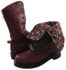 New Dr Martens Womens Triumph 1914 Cherry Red boots US NIB FBA