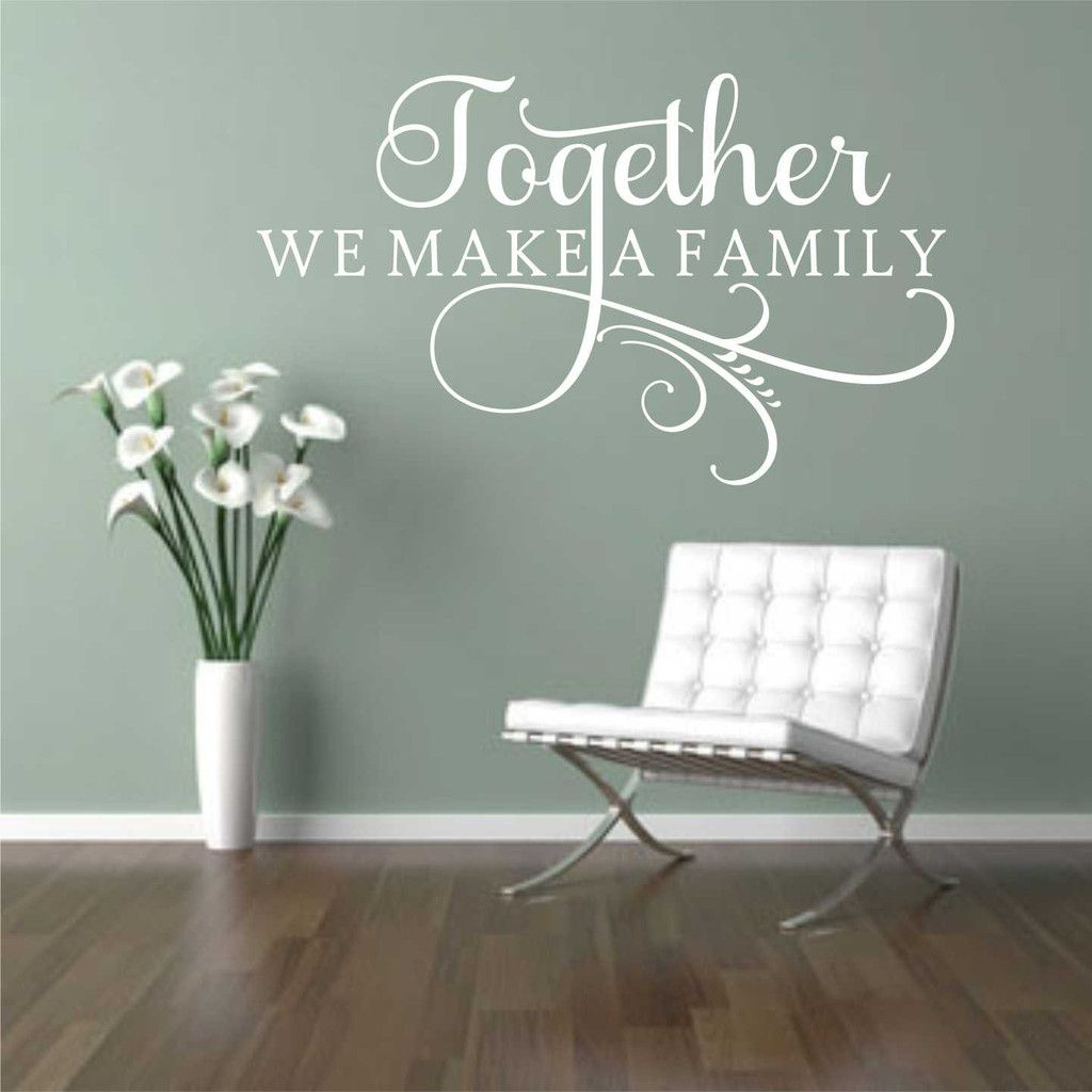 Together Make Family Swirl Decal Vinyl Wall Lettering Wall - Vinyl wall decal adhesive