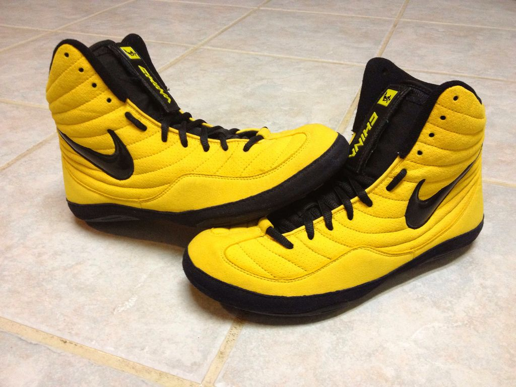Nike Wrestling Shoes Nike yellow sample olympic