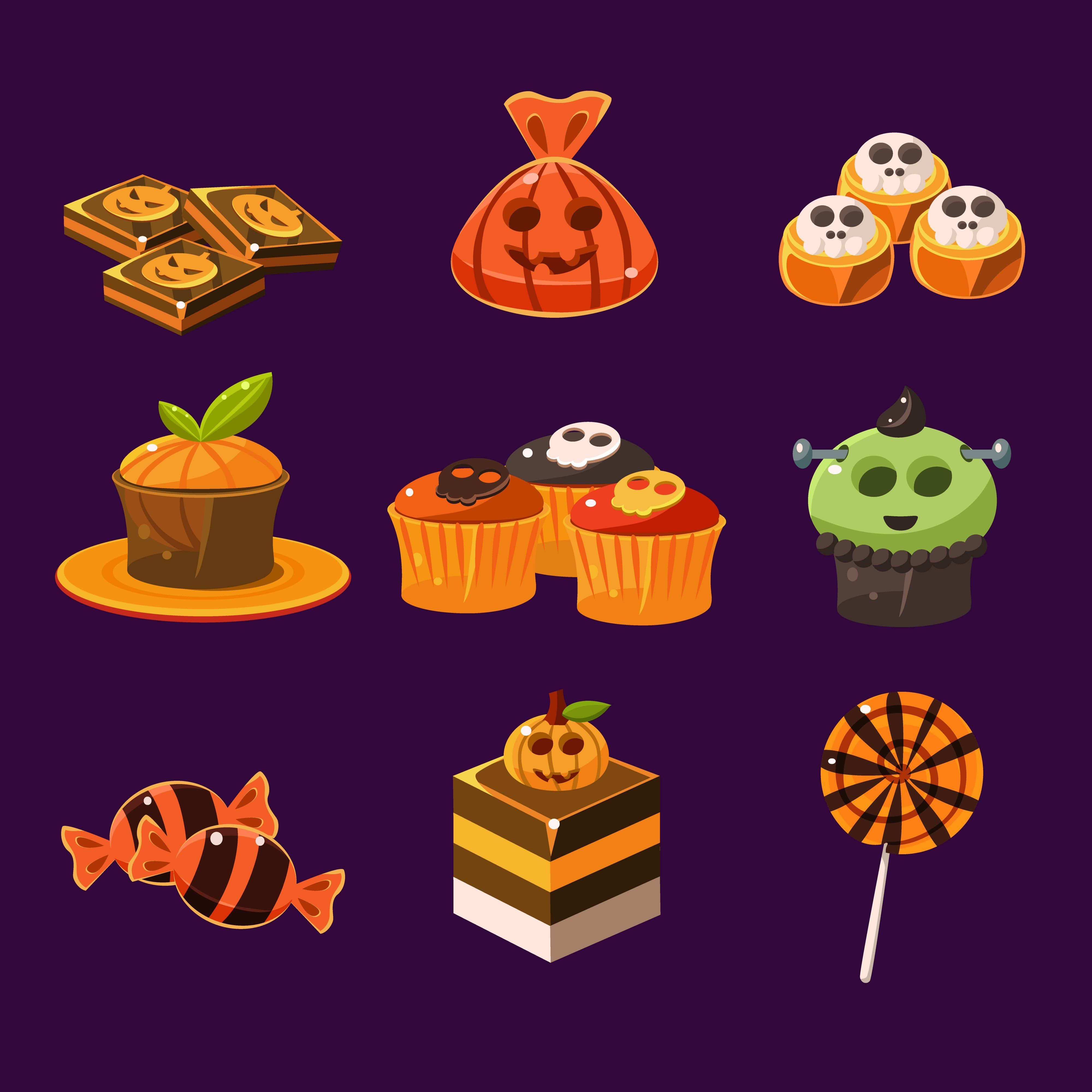 Halloween Sweets And Candies Halloween Sweets Halloween Templates Candy Icon