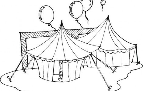 Circus Tent Coloring Pages Coloringpageskid Com