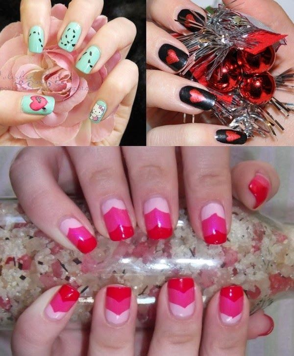 Valentines Day Beautiful Fresh Nail Painting Designs 2015