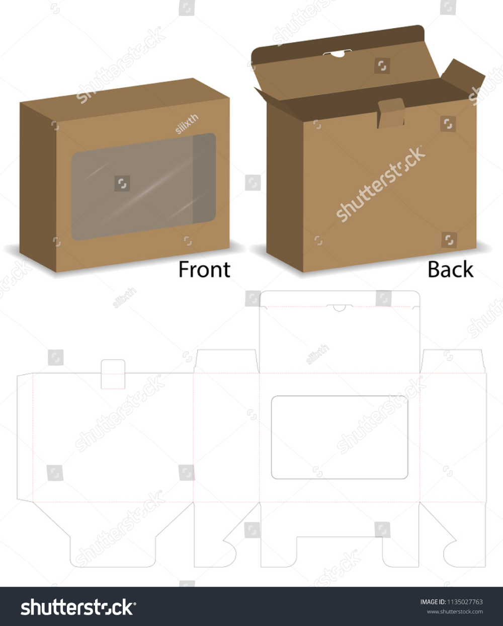 Download Box With Plastic Window Mockup With Dieline Plastic Windows Packing Design Packaging Design