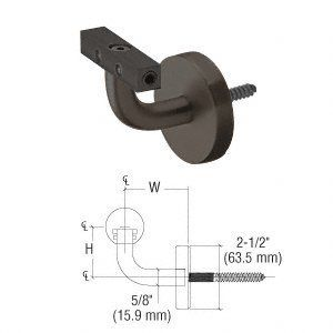 Amazon Com Crl Blumcraft Imperial Series Dark Bronze Anodized Wall Mounted Hand Rail Bracket Home Improvement Handrail Handrail Brackets Aluminum Wall