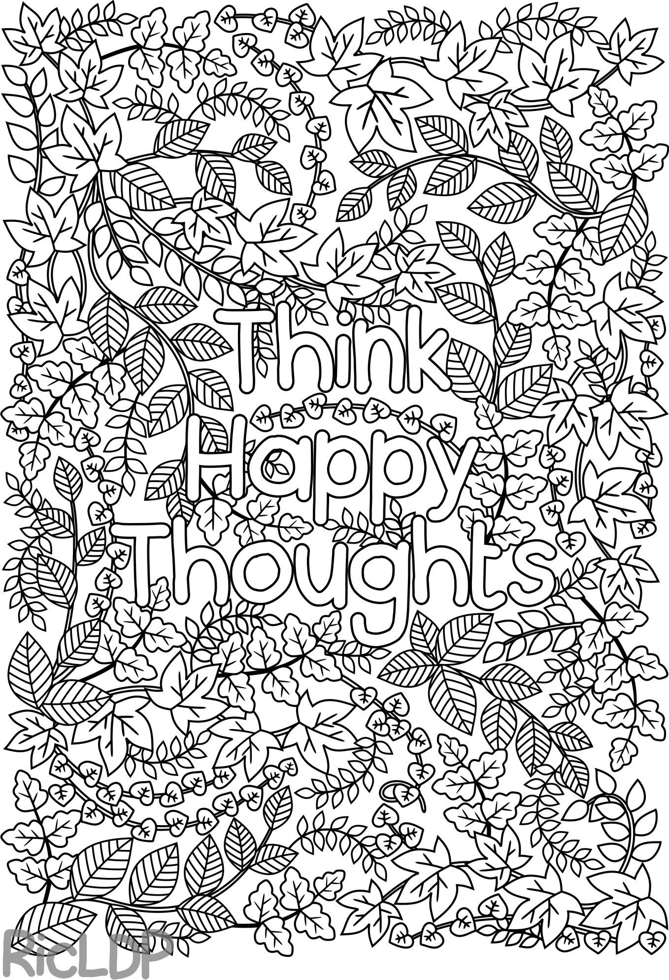 Instant Coloring Page Downloadincludes One Pdf File With