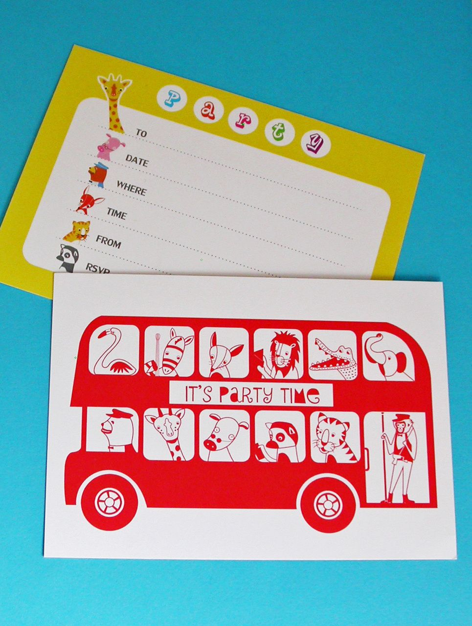 moonglowart Six London Bus Childrens Party Invitations 600 – Childrens Party Invites Uk