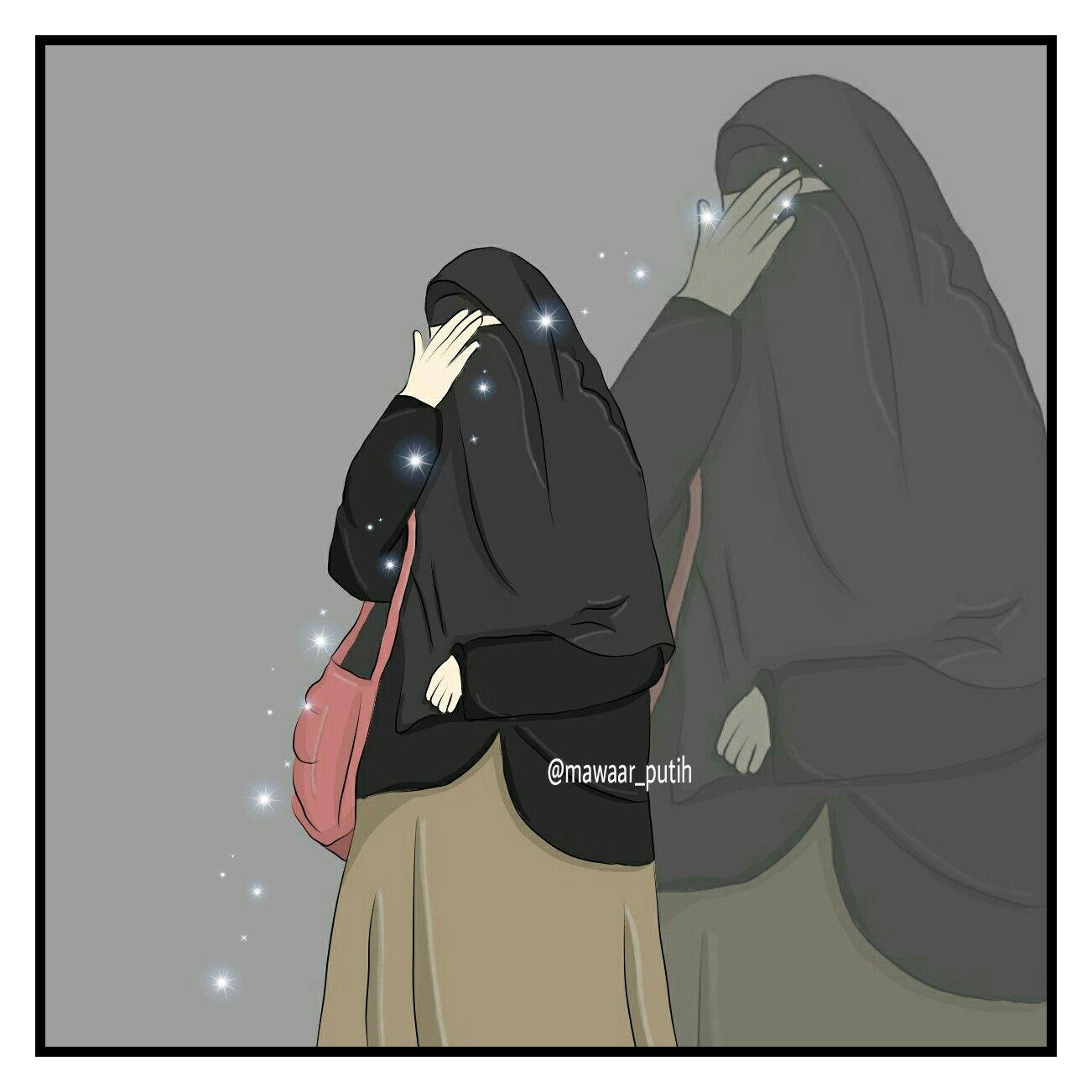 Love Hijab Hfz Anime Islami Pinterest Animation Gambar Kartun Muslimah