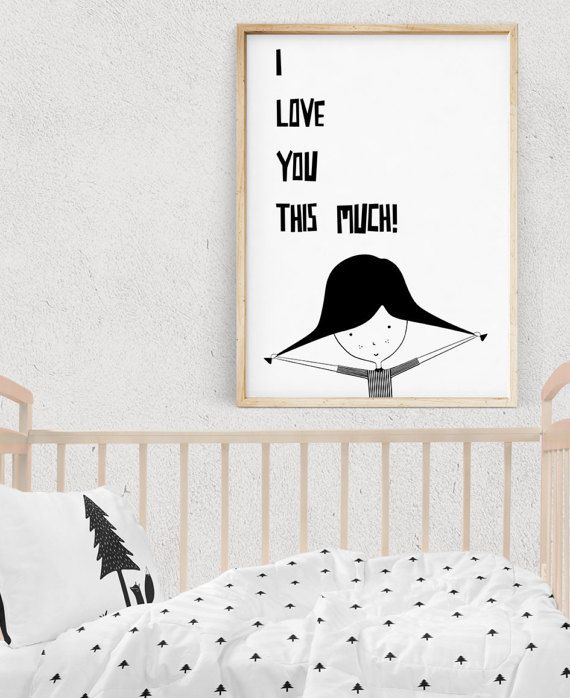 Valentines day wall art girl print black and white prints nursery decor