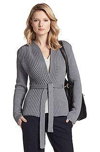 Hugo Boss - Designer, wrap-over knit jacket